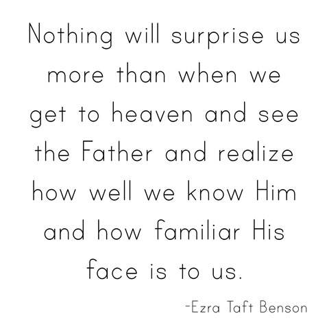 when we get to heaven --Benson