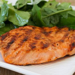 Grilled Salmon with Maple Syrup Glaze.