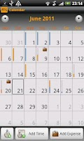 Screenshot of fTS freelance timesheet