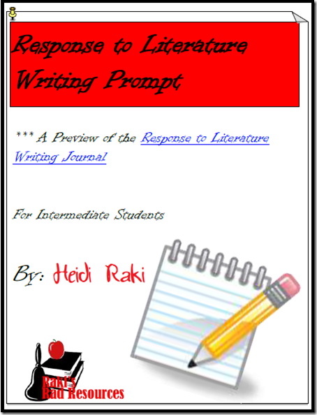 response to literature prompt that takes students from brainstorming to publishing - free download from Raki's Rad Resources