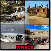 WRECK- 4 Pics 1 Word Answers 3 Letters