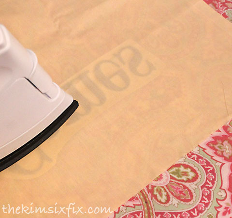 Ironing fabric applique