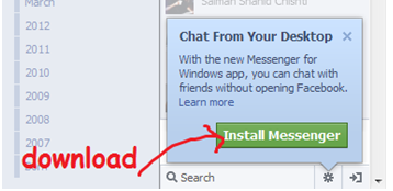 install facebook messenger