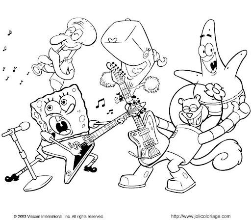 Colorear Personajes Bob Esponja