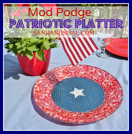 Mod Podge a Patriotic Platter 1