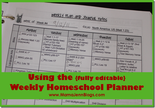 Weekly Homeschool Planner {How I'm Using It}