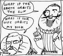 tycho brahe comic strip what if the earth orbits the sun wife my dick
