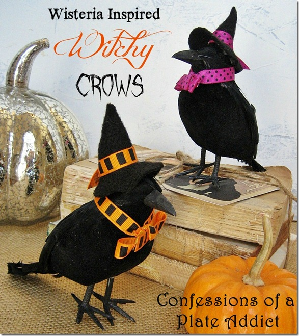 CONFESSIONS OF A PLATE ADDICT Wisteria Inspired Witchy Crows