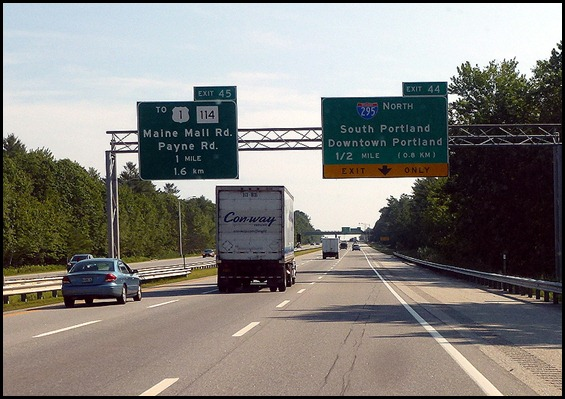 2 - Travel to Lubec, ME  I-295 at Portland