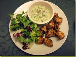 chicken tikka with mint raita dip