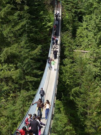 Obiective turistice Canada: podul Capilano Vancouver