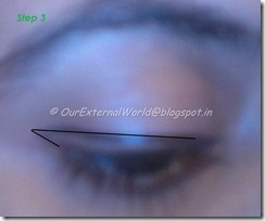 step 3-brown smokey eyes with winged liner