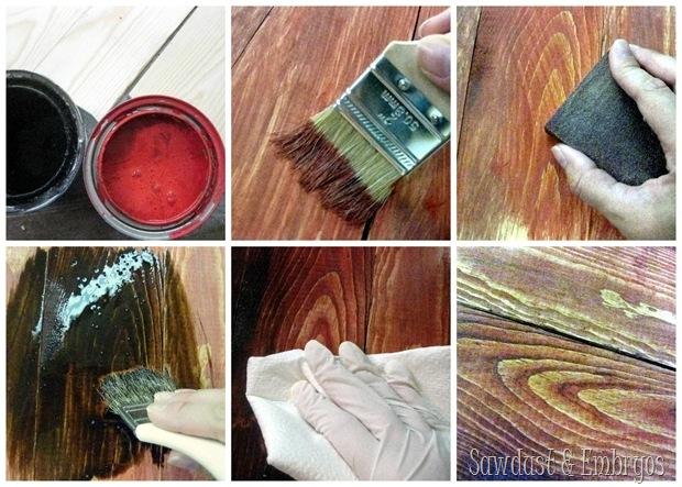 Iowa Barn Board Plaque (distressing new wood to look like barn wood!) SAWDUST AND EMBRYOS