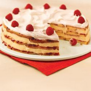 White Chocolate-Raspberry Trifle Cake.