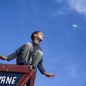 Kid Flying  by Yoriyas Alaoui Ismaili - Babies & Children Children Candids ( kid bird dream love see )
