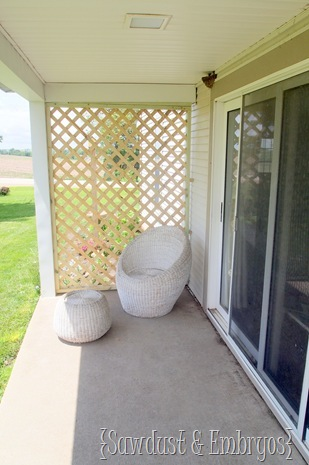Build your own Trellis using pre-mad Lattice {Sawdust and Embryos}