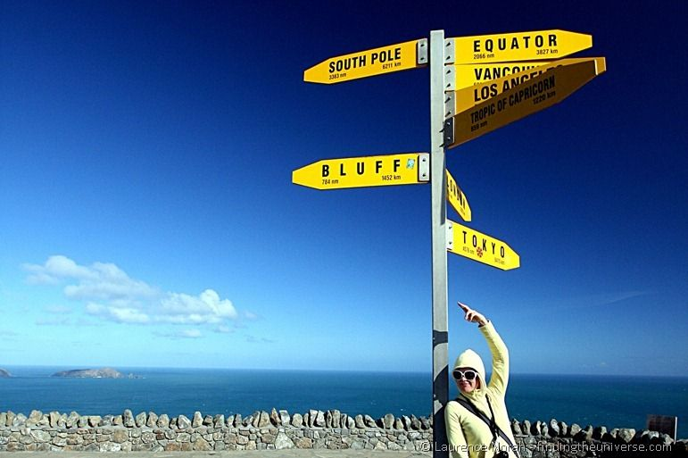 Distance sign at Cape Reinga