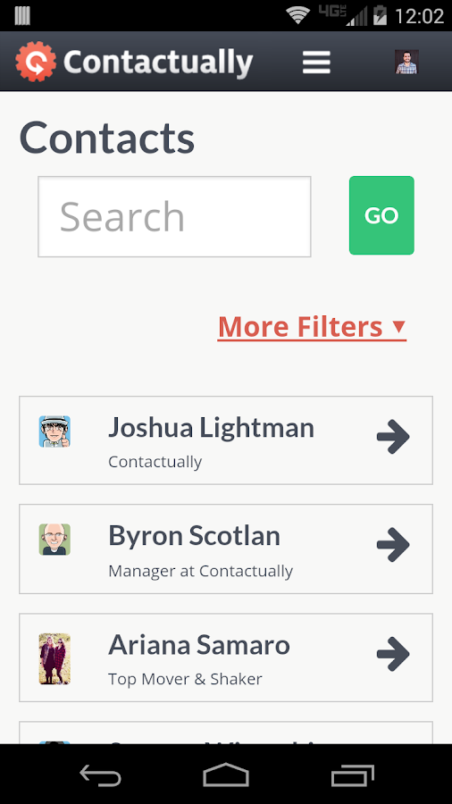 Contactually- screenshot
