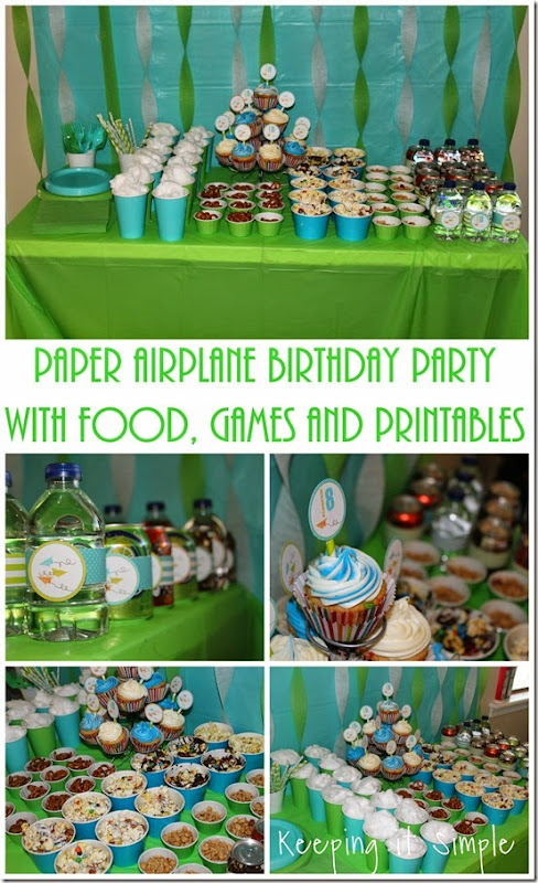 Boys-paper-airplane-birthday-party-with-food-games-and-printables