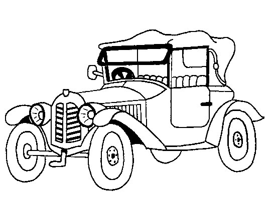 Vintage cars coloring pages