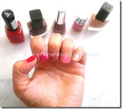 5 different nail colors
