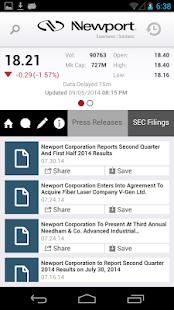 Newport Corp IR - screenshot thumbnail