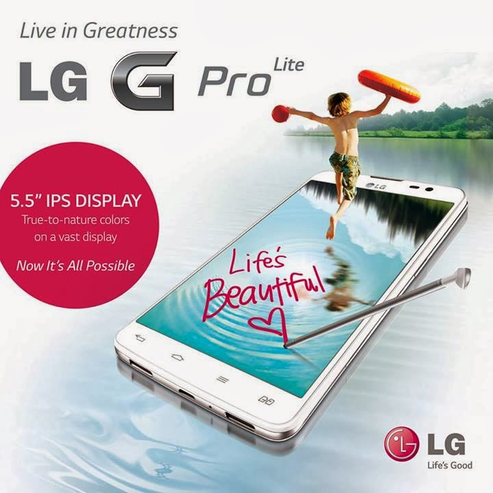 "LG G Pro Lite: 5.5"" IPS Display, 8MP BSI Camera, 3140mAh Battery, P15,990"