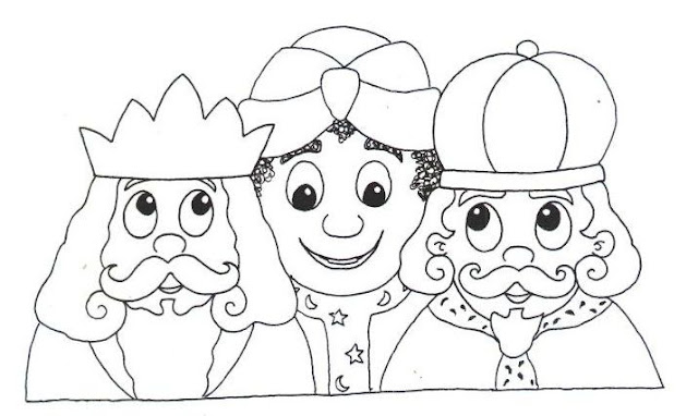 Dibujos Para Colorear De Los Tres Reyes Magos: LOS REYES MAGOS DIBUJOS PARA COLOREAR