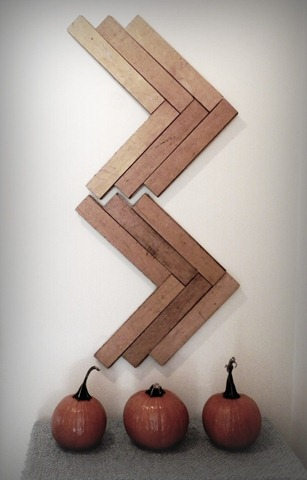 chevron wall art stage floor slats
