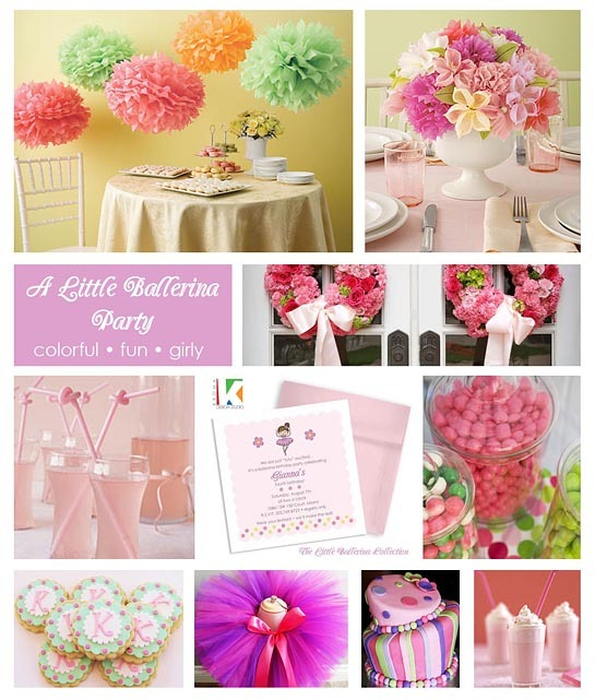 little ballerina party inspirational board
