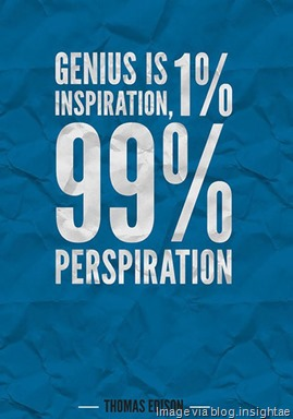 Genius-is-perspiration