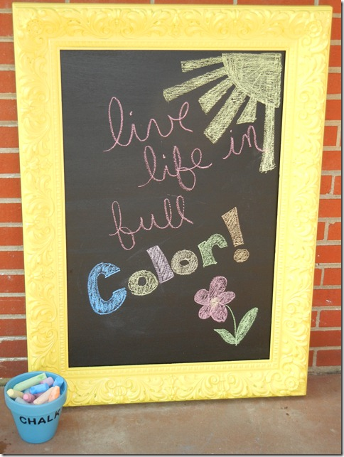 Alanna Wendt to Tennessee: DIY Outdoor Chalkboard