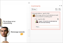 PowerPoint 2013 Commenting System