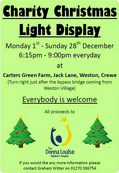 Weston Charity Christmas Light Display - poster