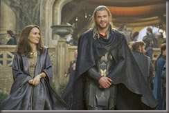 """Marvel's Thor: The Dark World""..Jane Foster (Natalie Portman) and Thor (Chris Hemsworth)..Ph: Jay Maidment..© 2013 MVLFFLLC.  TM & © 2013 Marvel.  All Rights Reserved."