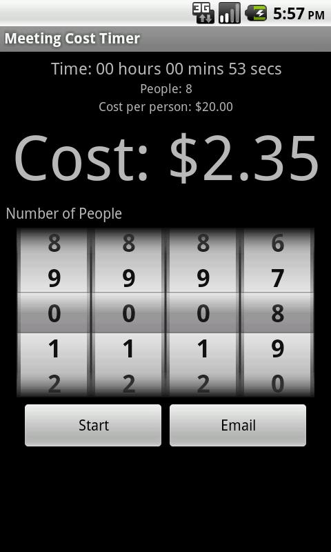Meeting Cost Timer - screenshot