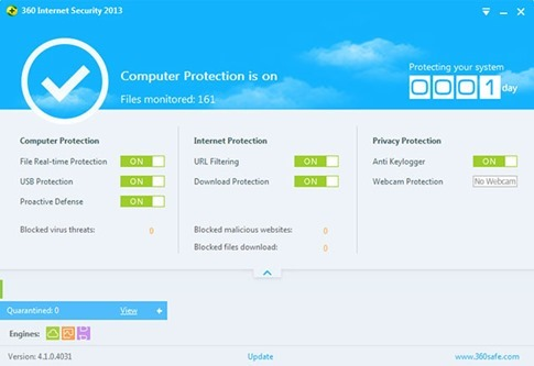 360 Internet Security 2013 - antivirus gratis