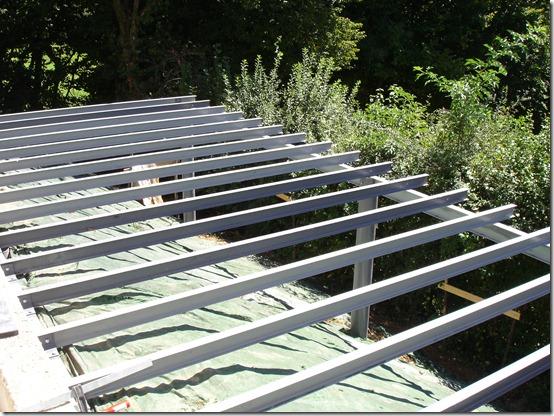Terrasse Bois Piloti Montage De La Structure Metallique