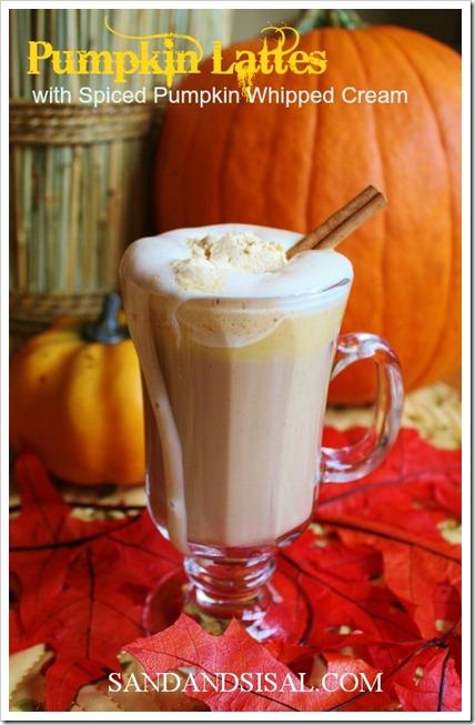 Pumpkin Latte with Spiced Pumpkin Whipped Cream thumbnail