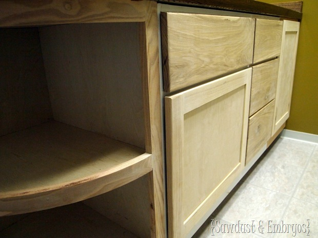 Project Bathroom Vanity Extension {Sawdust and Embryos}