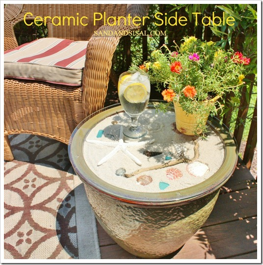 Ceramic Planter Side Table