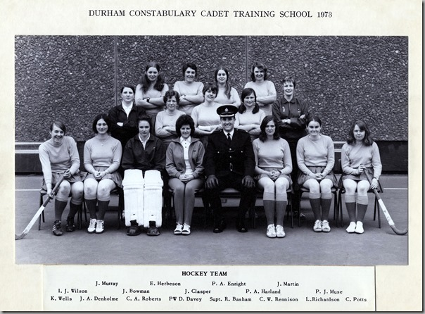 Girl Cadets Hockey Team 1973