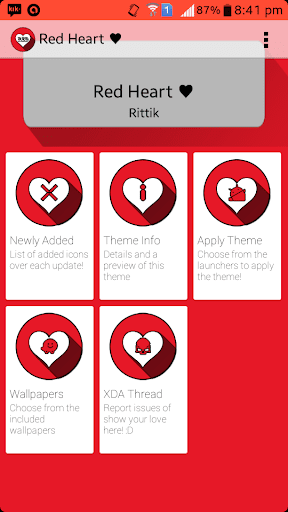 Red Hearts Icon Pack Donate