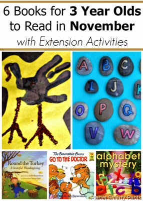 November books for 2 and 3 year old with extension activities