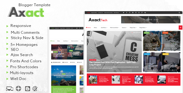 Axact - Responsive Magazine Blogger Theme