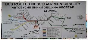 Схема автобусных линий - Солнечный Берег. www.timeteka.ru
