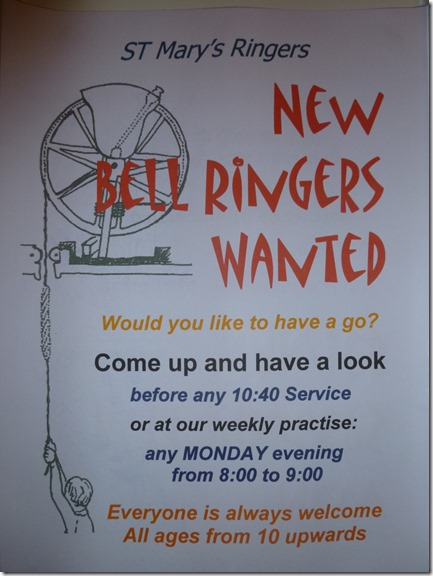 St. Mary's Church - new bell ringers