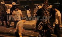 Φασίστες σε συνεργασία με μπάτσους σε αντιφασιστική πορεία στο Κερατσίνι (video)