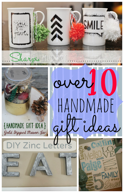 Over 10 Handmade Gift Ideas at GingerSnapCrafts.com #diy #ChristmasGifts #linkparty #features