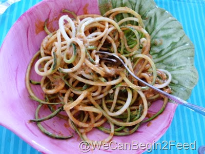 Dec 31 sesame sauce and zuke noodles 003